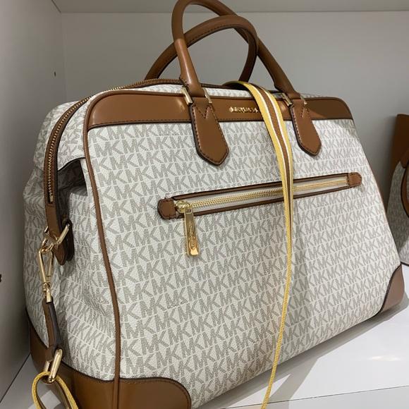 4fbc063e0 Michael Kors Bags   New Mk Travel Vanilla Luggage   Poshmark